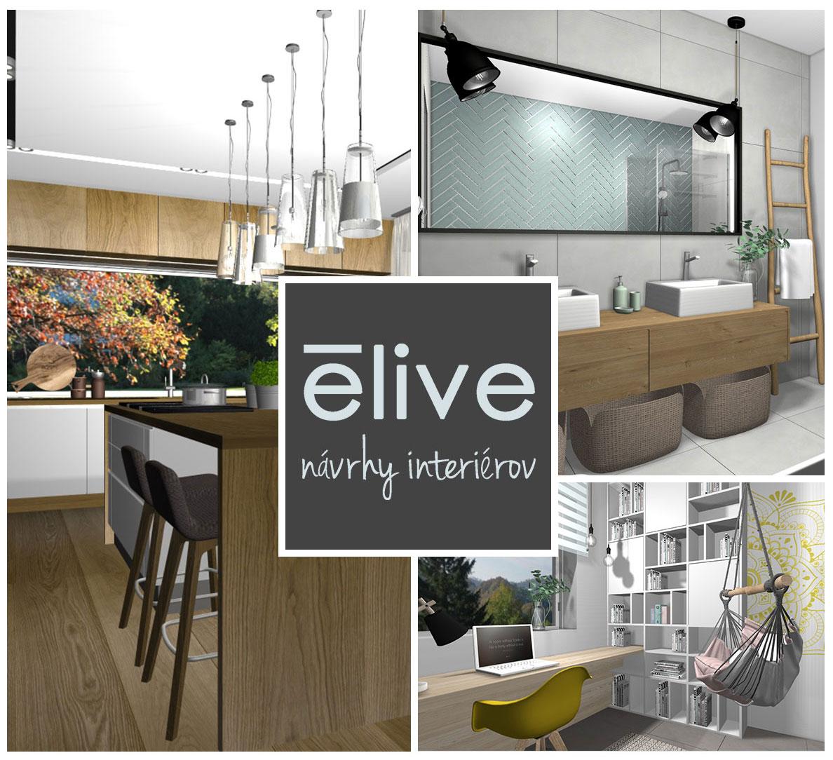 Návrhy a dizajn interiérov. Elive.sk