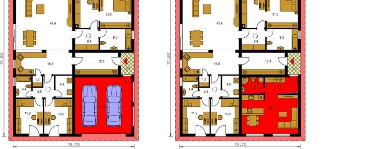 Vzorové zmeny projektov rodinných domov