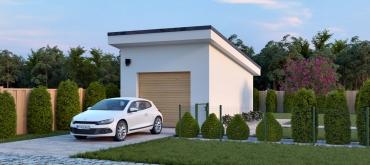 Projekty domov | Typový projekt garáže alebo prístrešku