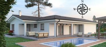 Projekty domov | Rodinný dom - poloha miestností v dome