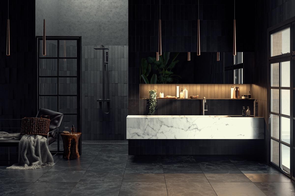 čiernobiela kúpeľňa do Vášho domu