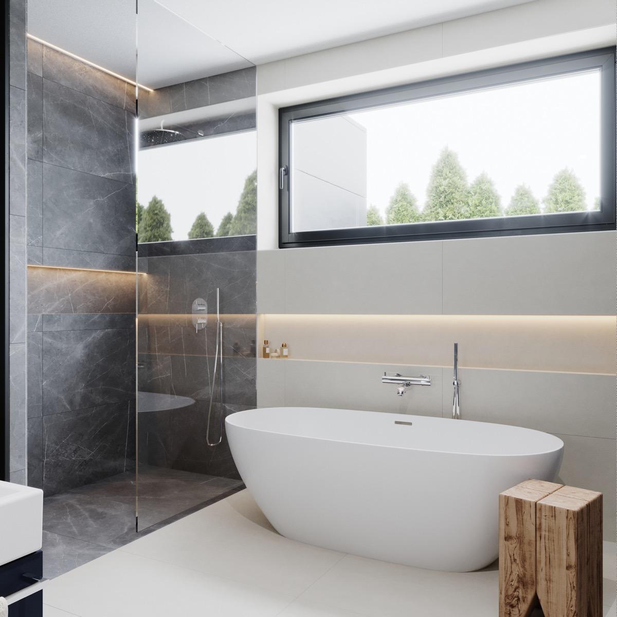 projekt domu - kúpeľňa