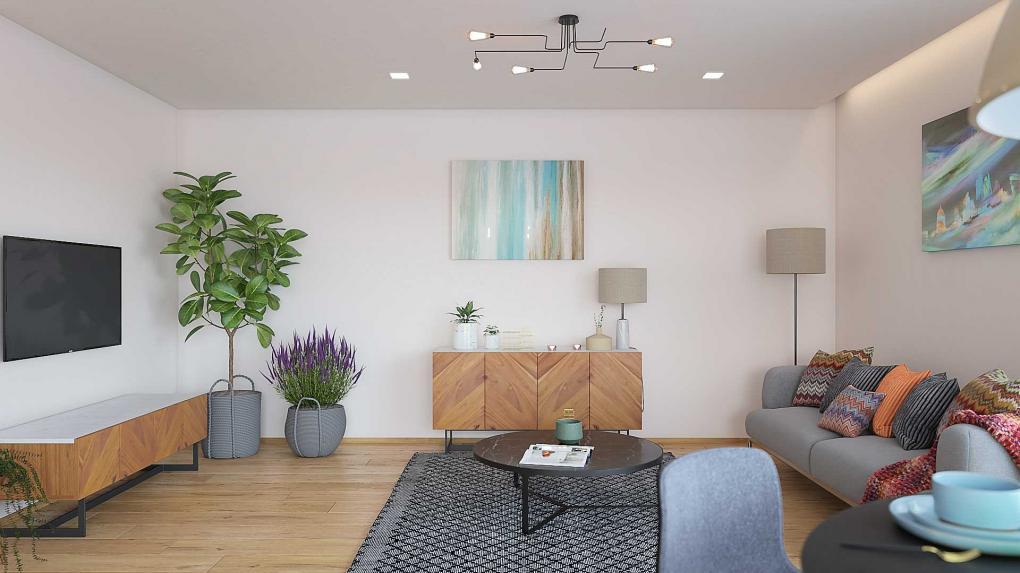 Bungalow 222 - obývačka