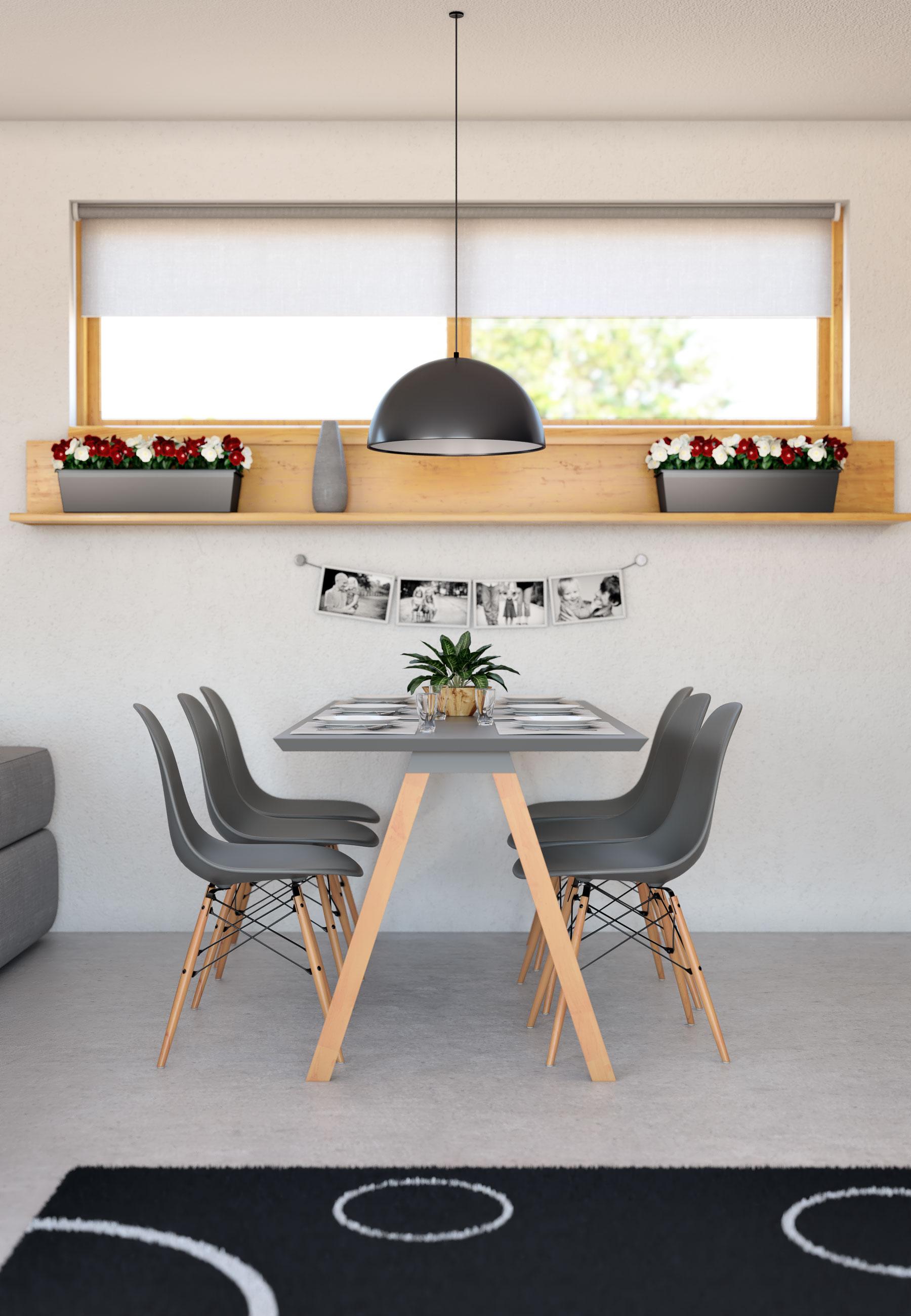 Interiér rodinného domu Bungalow 205 - jedáleň