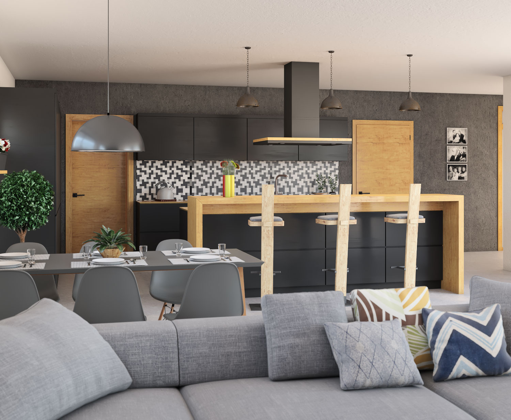 Interiér rodinného domu Bungalow 205 - kuchyňa