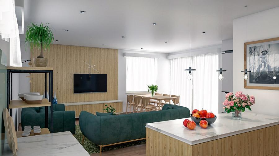 Interiér domu Bungalow 216