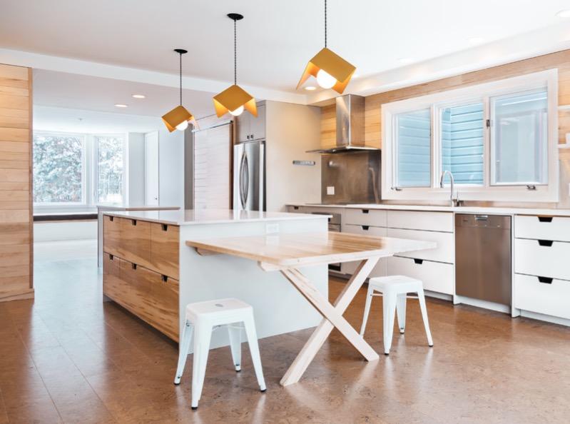 Korkové kuchynské podlahy