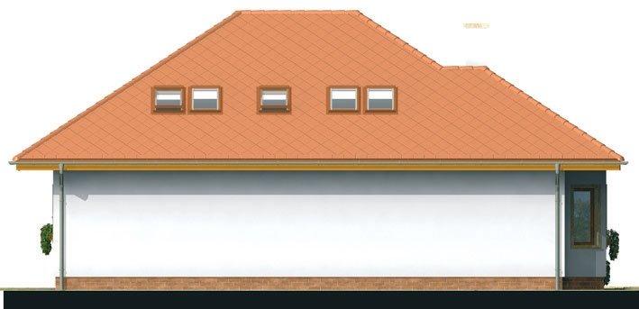 Pohľad 3. - Exkluzívny projekt rodinného domu. Dominatou je vikier s balkónom. Na prízemí sú dve spálne so sociálnym zariadením. Možnosť doprojektovať suterén.