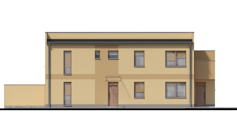 Pohľad 4. - Rodinný dvojdom pozostávajúci z dvoch identických, zrkadlovo otočených RD.