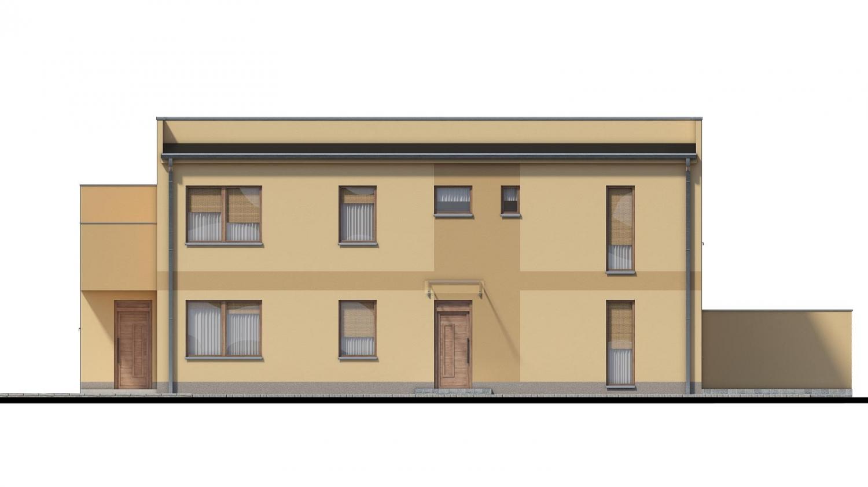Pohľad 2. - Rodinný dvojdom pozostávajúci z dvoch identických, zrkadlovo otočených RD.