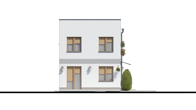 Pohľad 4. - Murovaný dom s dvoma bytovými jednotkami a samostatnými vstupmi.