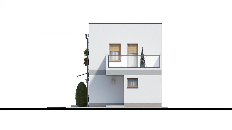 Pohľad 2. - Murovaný dom s dvoma bytovými jednotkami a samostatnými vstupmi.