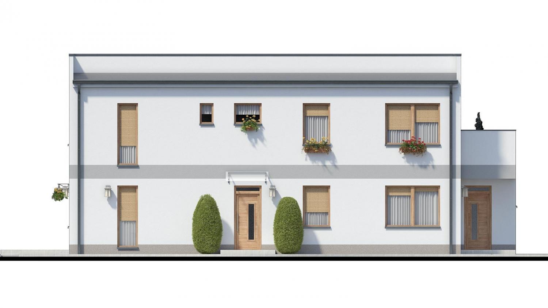 Pohľad 1. - Murovaný dom s dvoma bytovými jednotkami a samostatnými vstupmi.