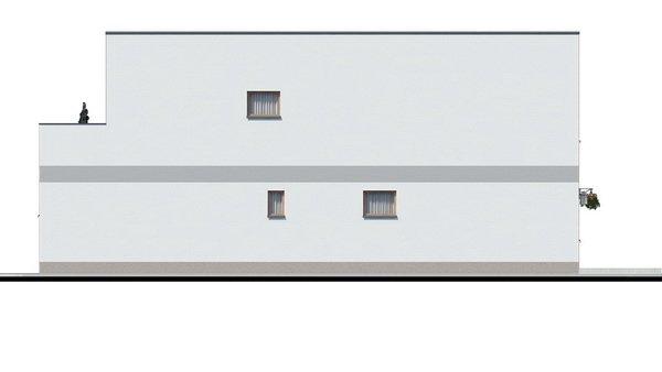Pohľad 4. - Murovaný dom s dvoma bytovými jednotkami a samostatnými vstupmi. Dom môže byť zrealizovaný aj s pultovou strechou, prípadne valbovou.