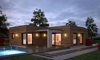Luxusný 4-izbový murovaný dom s dvojgarážou, plochou rovnou strechou, možnosť realizácie valbovej strechy