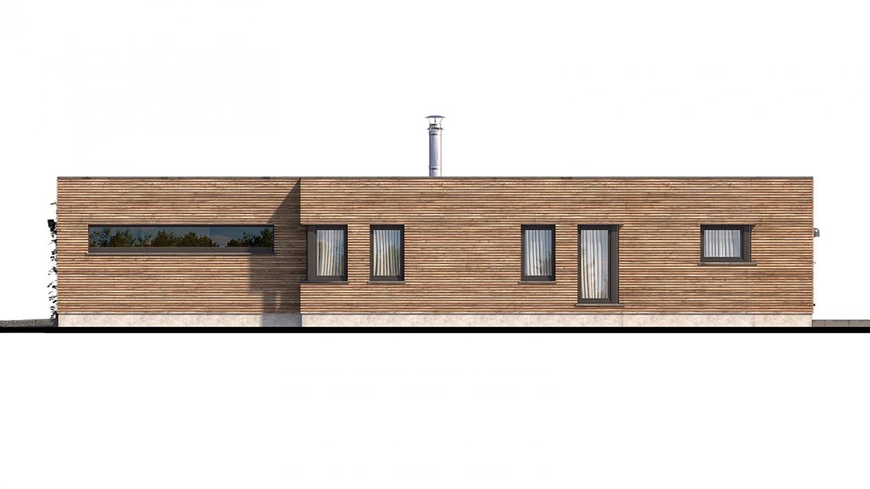 Pohľad 2. - Luxusný 4-izbový murovaný dom s dvojgarážou, plochou rovnou strechou.