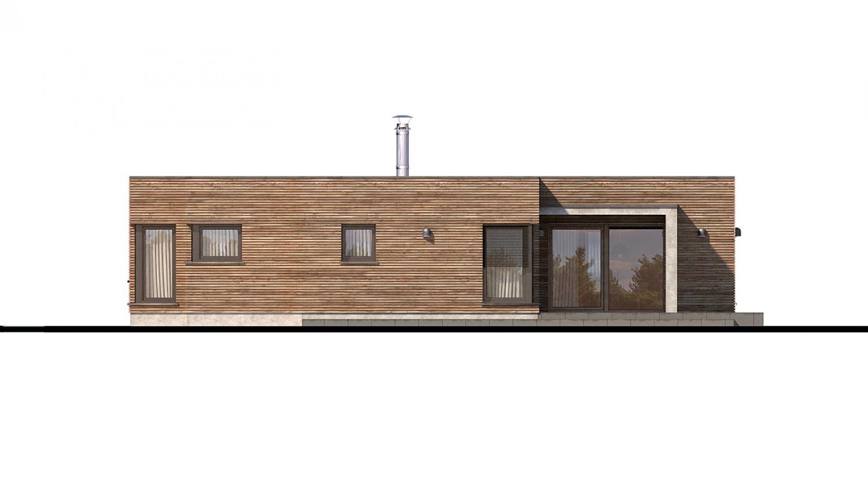 Pohľad 3. - Luxusný 4-izbový murovaný dom s dvojgarážou, plochou rovnou strechou.