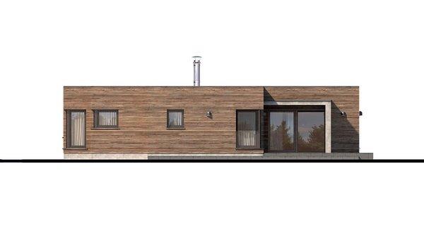 Pohľad 1. - Luxusný 4-izbový murovaný dom s dvojgarážou, plochou strechou a oddelenou dennou a nočnou časťou
