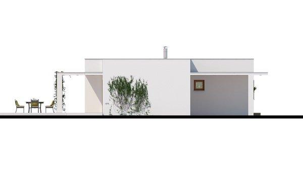 Pohľad 1. - Luxusný rodinný dom s krytým stáním, obytná časť je orientovaná do záhrady na terasu