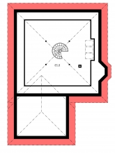 Zrkadlový obraz | Pôdorys poschodia - BETA