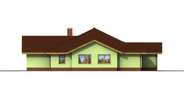 Pohľad 1. - Veľký dom s pivnicou a garážou.