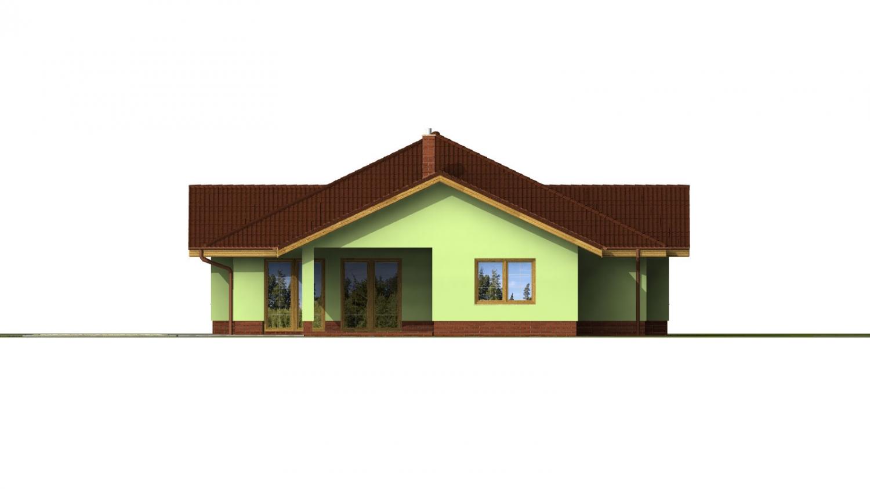 Pohľad 2. - Veľký dom s pivnicou a garážou.