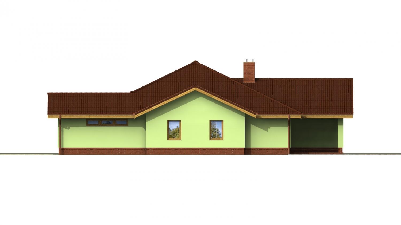 Pohľad 3. - Veľký dom s pivnicou a garážou.