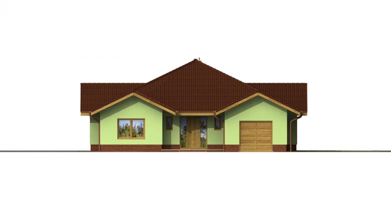 Pohľad 4. - Veľký dom s pivnicou a garážou.