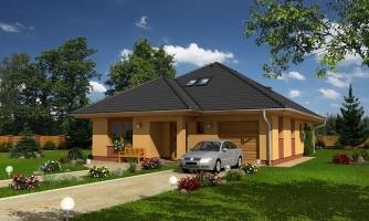 Rodinný dom s garážou a obytným podkrovím