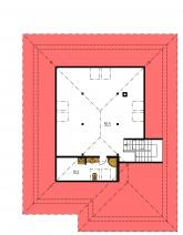 Zrkadlový obraz | Pôdorys poschodia - BUNGALOW 103