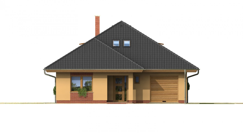 Pohľad 1. - Rodinný dom s garážou a obytným podkrovím
