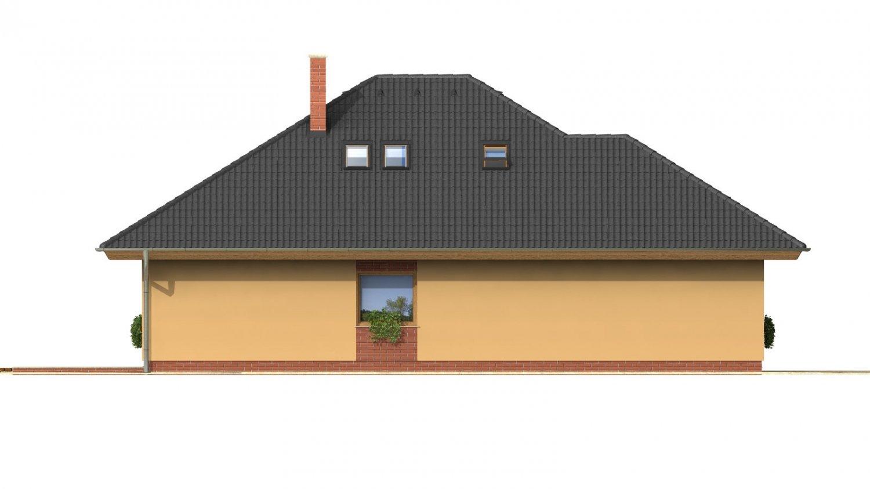 Pohľad 2. - Rodinný dom s garážou a obytným podkrovím.