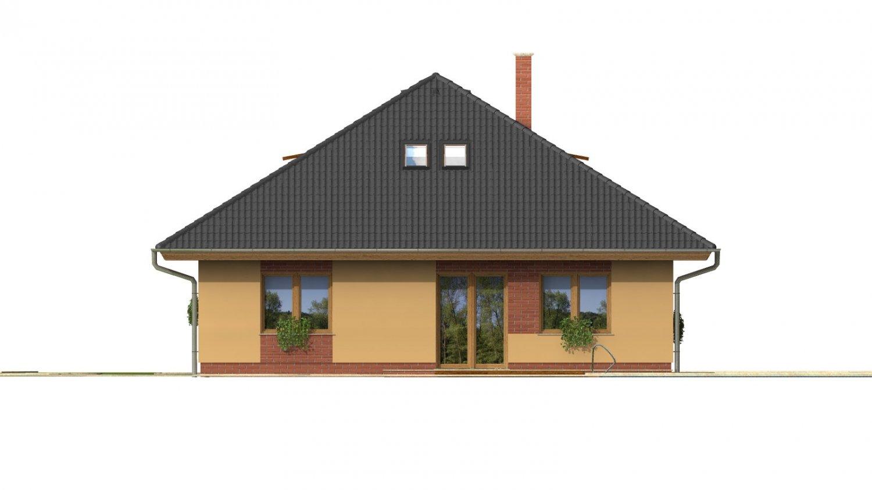 Pohľad 3. - Rodinný dom s garážou a obytným podkrovím