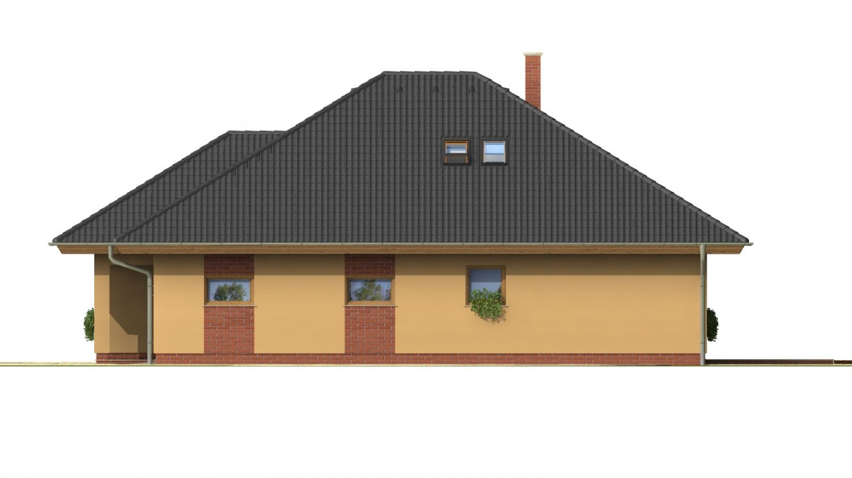 Pohľad 4. - Rodinný dom s garážou a obytným podkrovím