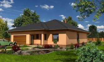 Nádherný dom s dvojgarážou. Vstup so spálne na krytú terasu.