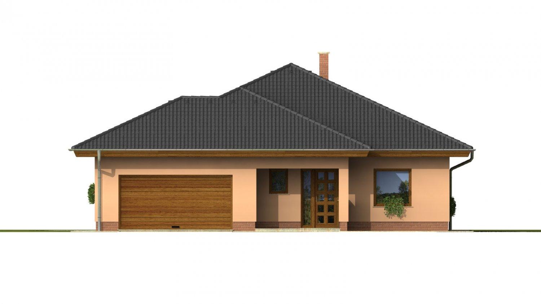 Pohľad 1. - Nádherný dom s dvojgarážou. Vstup so spálne na krytú terasu.