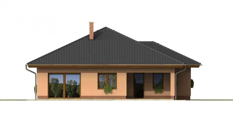 Pohľad 3. - Nádherný dom s dvojgarážou. Vstup so spálne na krytú terasu.