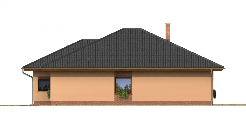 Pohľad 4. - Nádherný dom s dvojgarážou. Vstup so spálne na krytú terasu.
