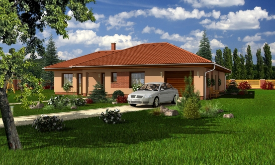 projekt domu BUNGALOW 106