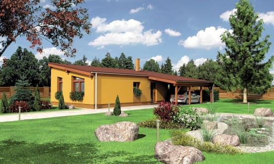 projekt domu BUNGALOW 108