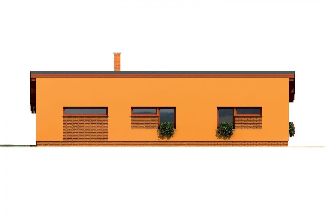 Pohľad 2. - Úzky moderný rodinný domček pre mladých.