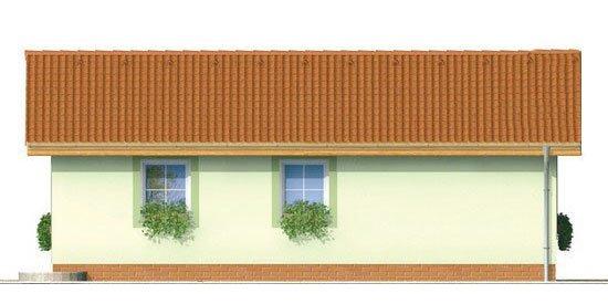 Pohľad 3. - Obľúbený murovaný rodinný  dom na malý pozemok s tromi izbami a sedlovou strechou.