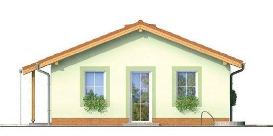 Pohľad 2. - Obľúbený murovaný rodinný  dom na malý pozemok s tromi izbami a sedlovou strechou.