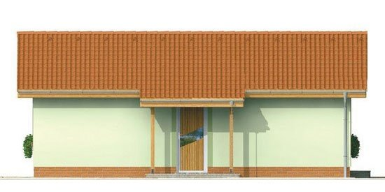 Pohľad 1. - Obľúbený murovaný rodinný  dom na malý pozemok s tromi izbami a sedlovou strechou.