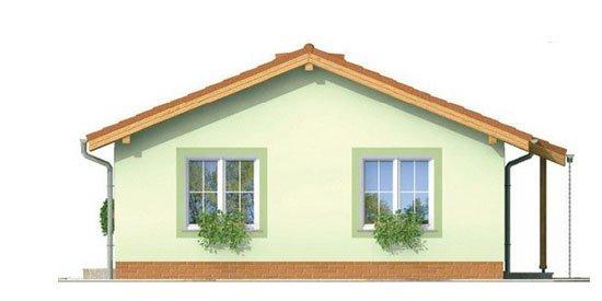Pohľad 4. - Obľúbený murovaný rodinný  dom na malý pozemok s tromi izbami a sedlovou strechou.