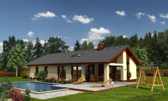 projekt domu BUNGALOW 110