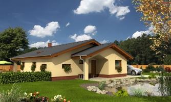 Dom do L bez stropnej konštrukcie
