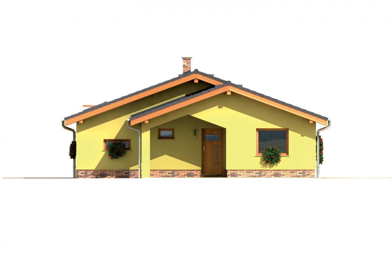 Pohľad 1. - Dom do L bez stropnej konštrukcie.