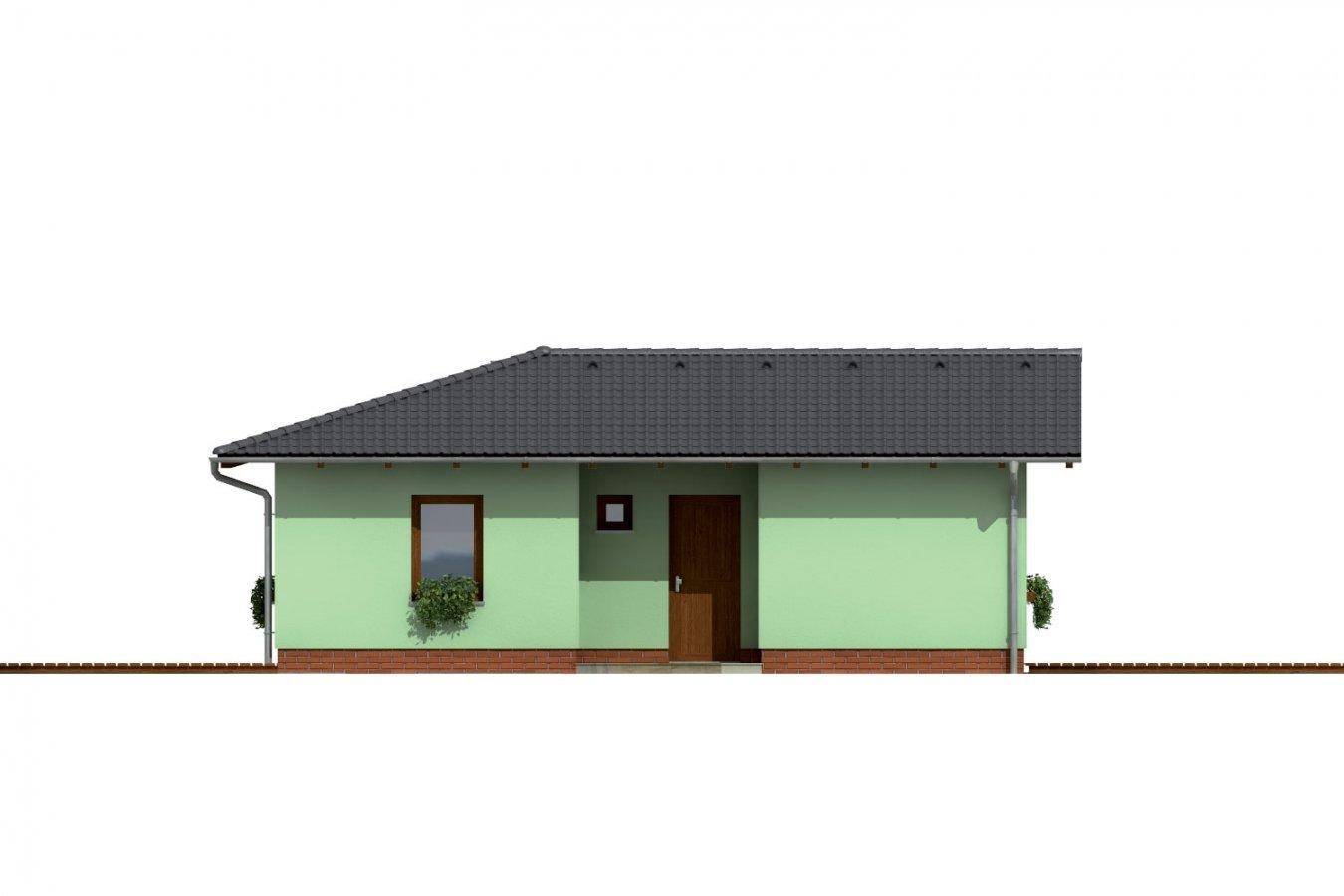 Pohľad 1. - Dom do L so sedlovou strechou