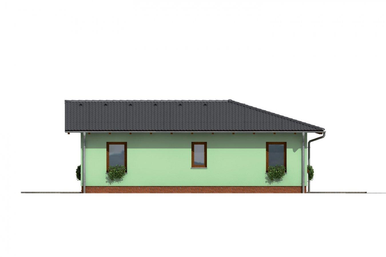 Pohľad 2. - Dom do L so sedlovou strechou